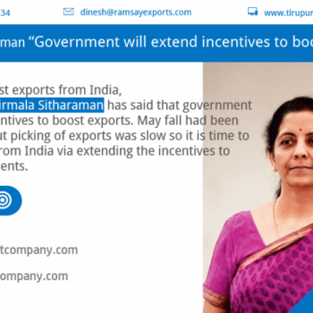 Nirmala Sitharaman said that Government will extend incentives to boost exports from India